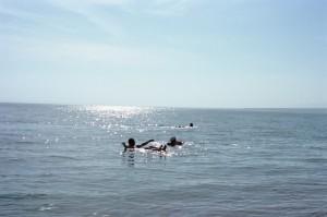 イスラエルとヨルダンの国境にある死海