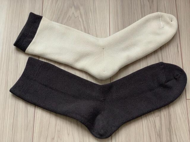 温むすび内側シルク二重編み靴下